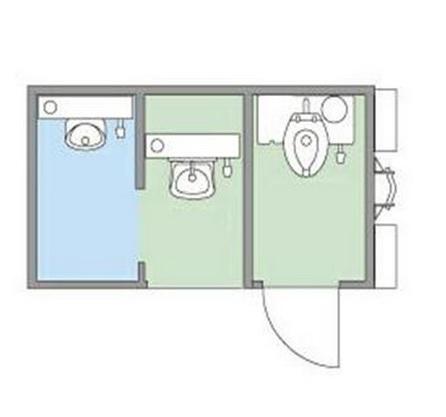 Sơ đồ bố trí nhà vệ sinh di động hookliftSơ đồ bố trí nhà vệ sinh di động hooklift