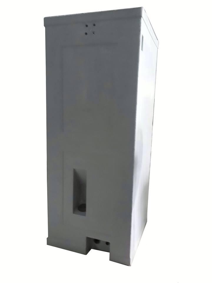 Cửa hút bể phốt bố trí bên ngoài nhà vệ sinh