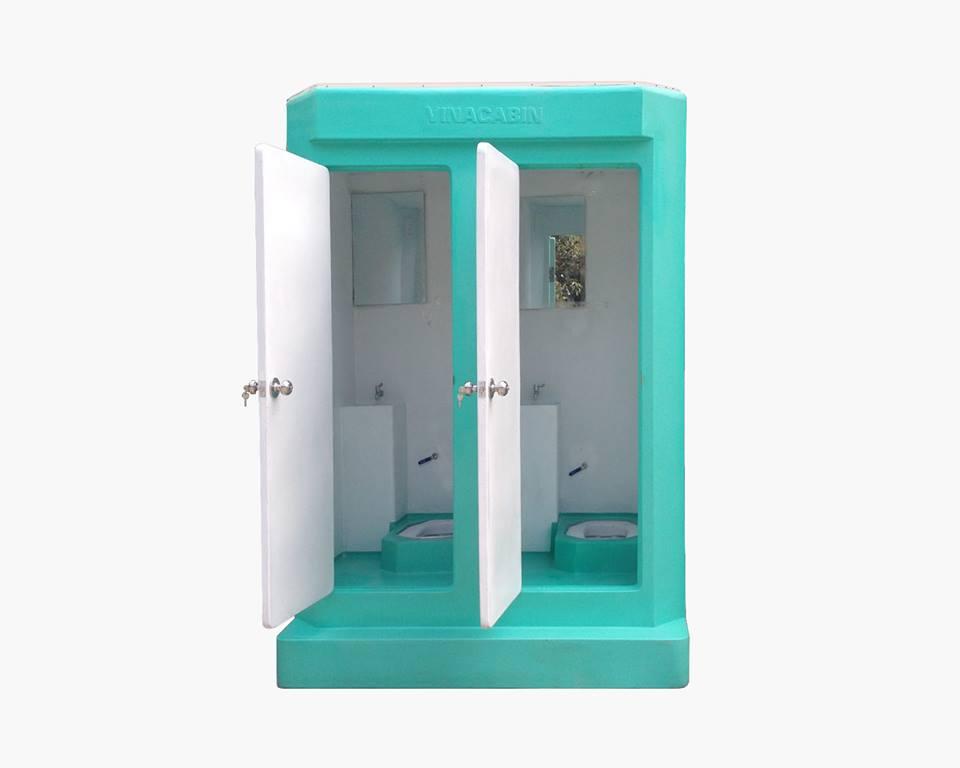 Nội thất nhà vệ sinh di động Vinacabin 2 buồng